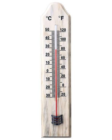 FELDSPAR Wooden Wall Glass Thermometer