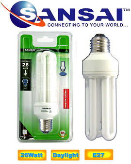 SANSAI 25W Daylight Energy Saving Bulbs