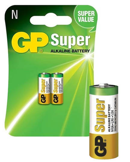 GP 910A LR1 N Type Alkaline Battery 2 Pack