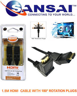 SANSAI HDMI Rotation Plug to Plug Cable 1.5m