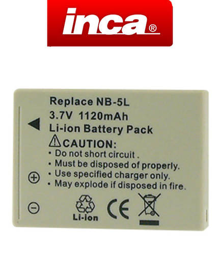 INCA CANON NB-5L NB5L Camera Battery