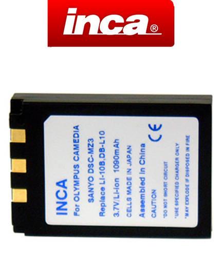 INCA OLYMPUS Li-10B Li-12B Sanyo DB-L10 Compatible Battery