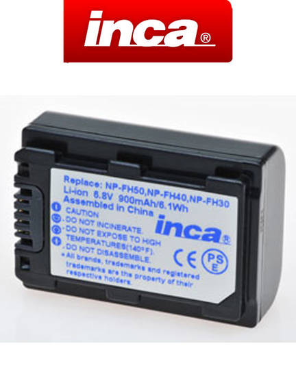 INCA SONY NP-FH50 NP-FH40 NP-FH30 Compatible Battery