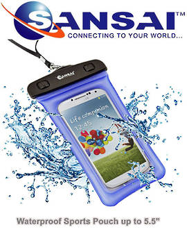 SANSAI iPhone 5 Waterproof Sports Pouch also for Samsung Galaxy