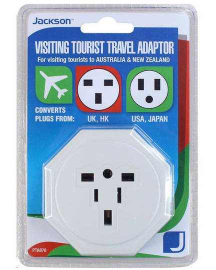 Jackson PTA878 Travel Adaptor for New Zealand and Australian