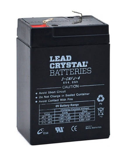 Lead Crystal 3-CNFJ-4 SLA 6V 4AH Battery