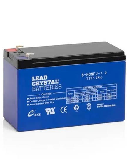 Lead Crystal 6-HCFJ-7.2 SLA 12V 7.2AH Battery