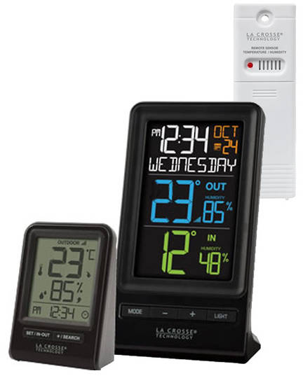 M82738V2 La Crosse Wireless Thermometer with Humidity Combo