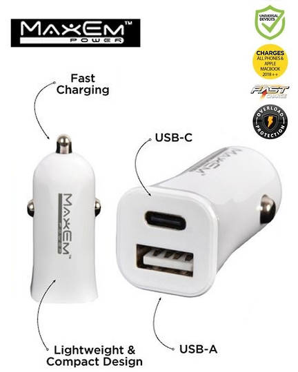 MAXEM Dual USB Car Adaptor