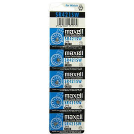 Maxell 348 SR421SW Watch Battery Pack of 5