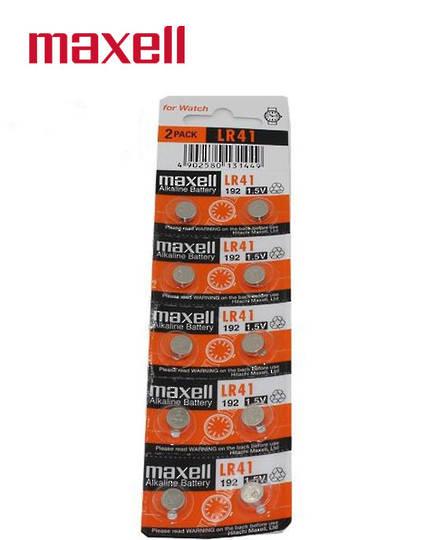 MAXELL LR41 192 Alkaline Battery 10PK