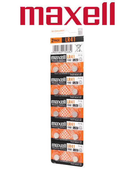 Maxell LR41 Alkaline Battery 10PK