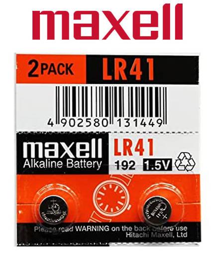 Maxell LR41 Alkaline Battery 2PK