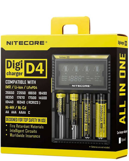 NITECORE D4 Digi Charger Universal Battery Charger