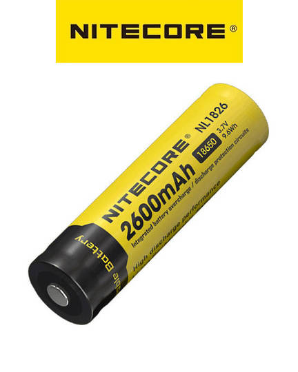 NITECORE NL1826 18650 2600mAh Lithium Battery