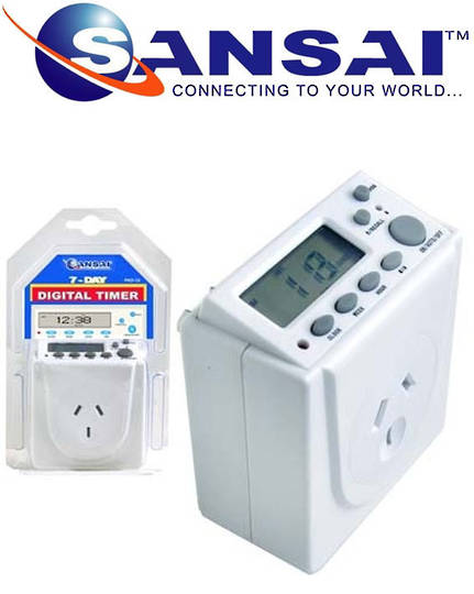 SANSAI Digital Mains Timer