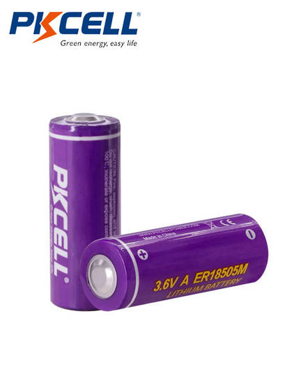 PKCELL ER18505M A Size 3200mAh Hi Power Type Lithium Li-SOCI2 Battery