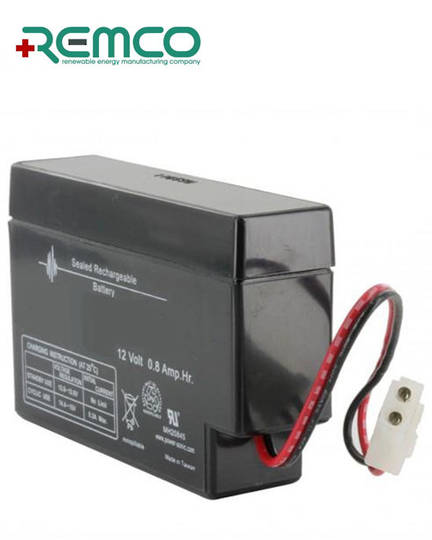 REMCO RM12-0.8 12V 0.8Ah SLA battery with E Plug