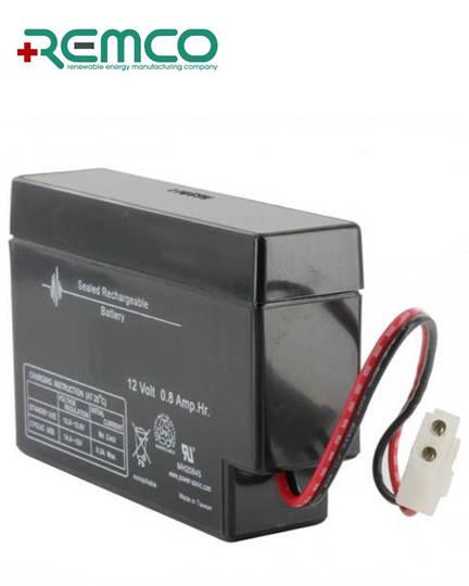 REMCO RM12-0.8 12V 0.8Ah SLA battery with E Plug