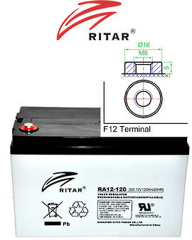 RITAR RA12-120S 12V 120AH SLA Battery