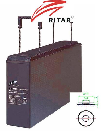 RITAR RA12-150F 12V 150Ah Front Terminal SLA Battery
