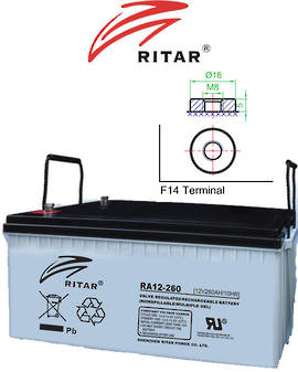 RITAR RA12-260 12V 260AH SLA Battery
