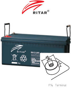 RITAR RA12-260SD 12V 260AH Deep Cycle SLA Battery