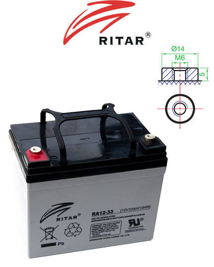 RITAR RA12-33 12V 33AH SLA battery