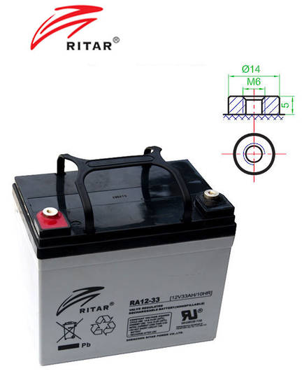 RITAR RA12-33 12V 33AH SLA battery