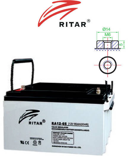 RITAR RA12-65 12V 65AH SLA battery