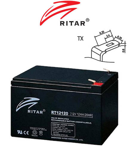 RITAR RT12120 12V 12AH SLA battery