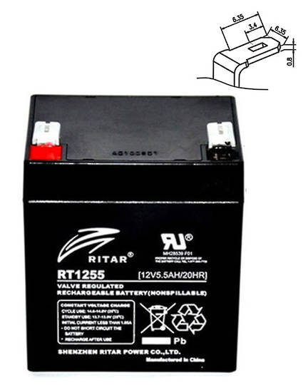 APC RBC29 RBC30 RBC45 RBC46 12V 5.5AH Replacement Battery Kit