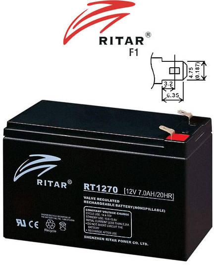 RITAR RT1270 12V 7AH SLA battery