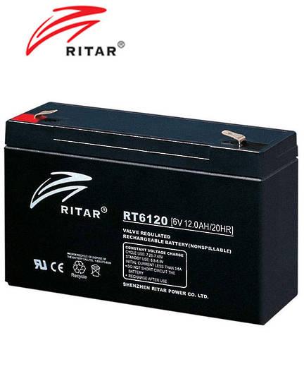 RITAR RT6120 6V 12AH SLA battery