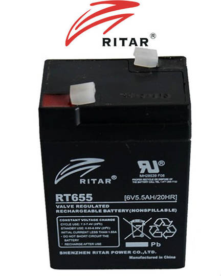 RITAR RT655 6V 5.5AH SLA battery