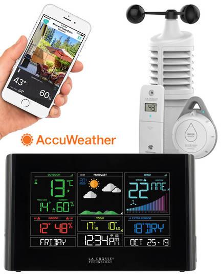 S82950 La Crosse WIFI Weather Station with Leak Detector