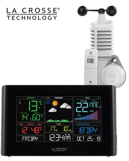 S82950 La Crosse WIFI Weather Station with Leak Detector