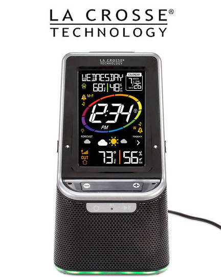 S86842 La Crosse Bluetooth Speaker Colour Weather Station