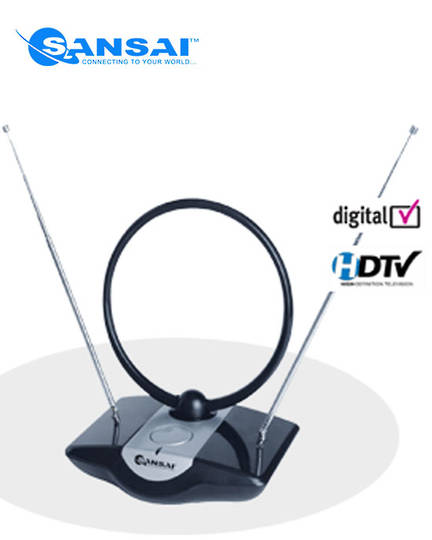 SANSAI Amplified Indoor TV Antenna HDTV