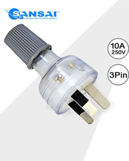 SANSAI Back Entry Rewireable Power Plug
