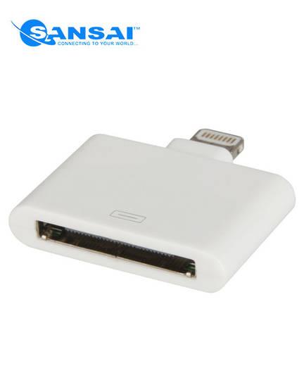 SANSAI Lightning Plug to 30Pin Apple Socket Adaptor