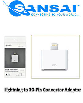 SANSAI Lightning to 30Pin Dock Connector Adaptor