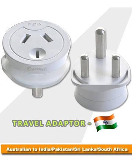 SANSAI STV-13 Travel Adaptor for NZ to South Africa India Pakistan Sri Lanka