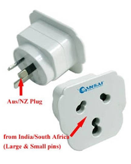 SANSAI Travel Adaptor for NZ to India South Africa