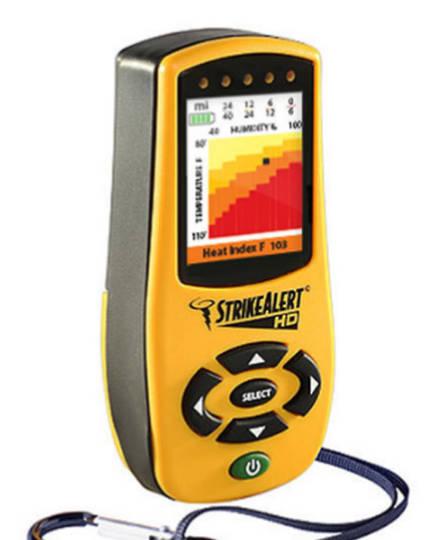 STRIKE ALERT LD4000 Commercial Lightning Detector with Heat Index