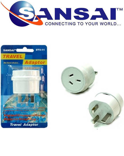 SANSAI Travel Adaptor for NZ to UK Singapore Malaysia HK