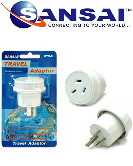 SANSAI Travel Adaptor for NZ to USA Canada