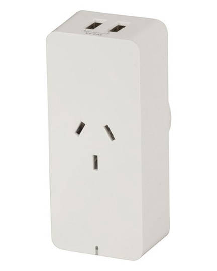 Smart Plug WiFi Controlled Mains Switch Power Adaptor with 2 USB