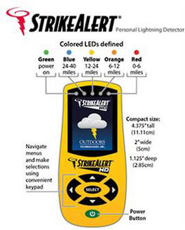 HD3000 Strike Alert Commercial Lightning Detector