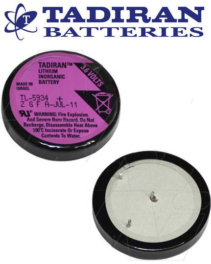 Tadiran TL-5134 Wafer 1/10D 3.6V Lithium Battery